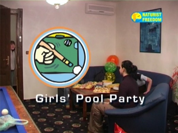 Girls Pool Party-Naturist Freedom  女の子のプールパーティー
