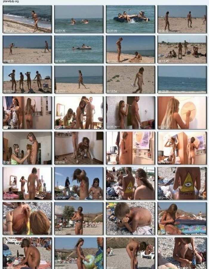 Nudism Family Video HD - A little dash of the brush