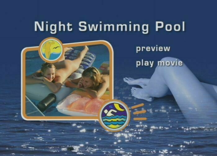 Night Swimming Pool-Naturist Freedom  夜のプール
