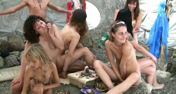Silver Outdoor Tent 1-Naturist Family Events Videos [Purenudism 2014]