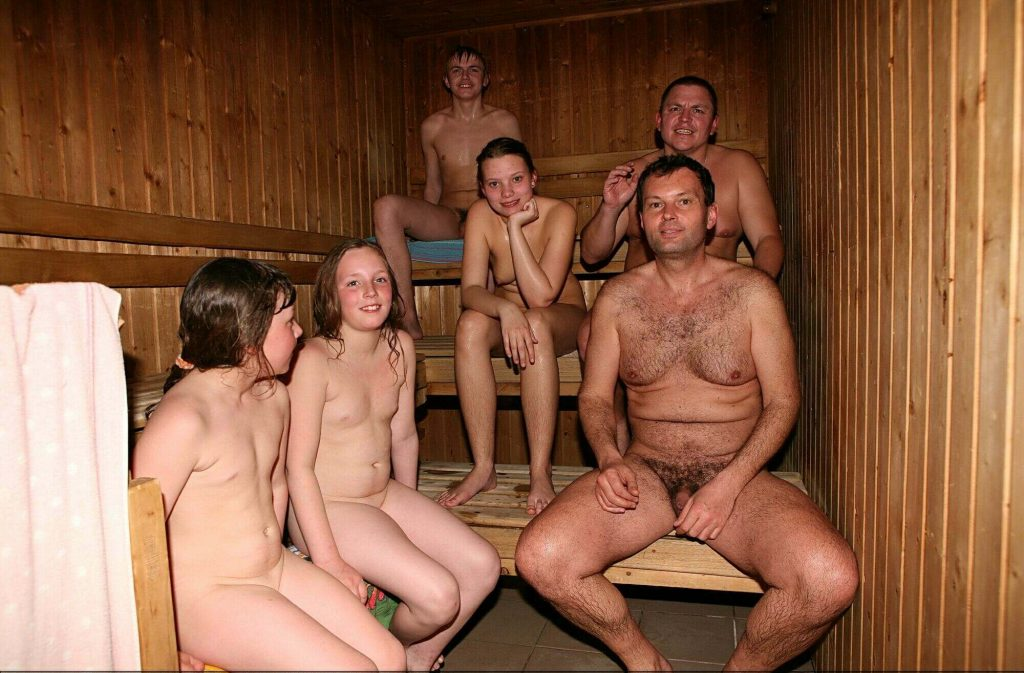 Photos from the family album of nudists [Pool House and Sauna]