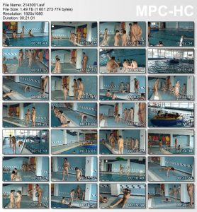 Video from the family nudist archive [Poolside activities]