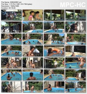 Video from the life of a nudist family in Brazil - Oceanic Backyard Noon