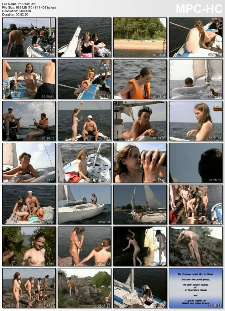 Family nudist sea voyage