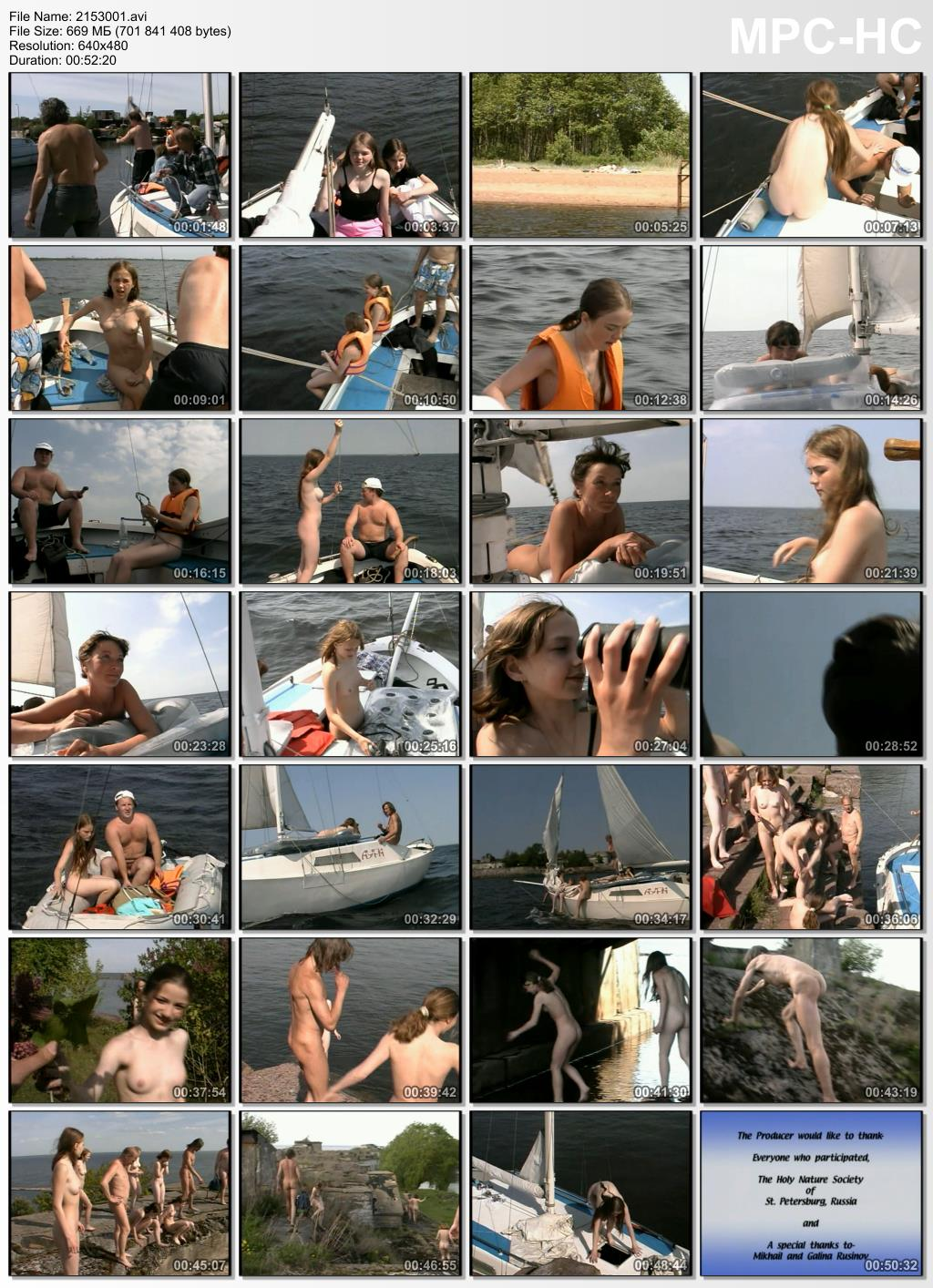 Family nudist sea voyage - A day of sailing