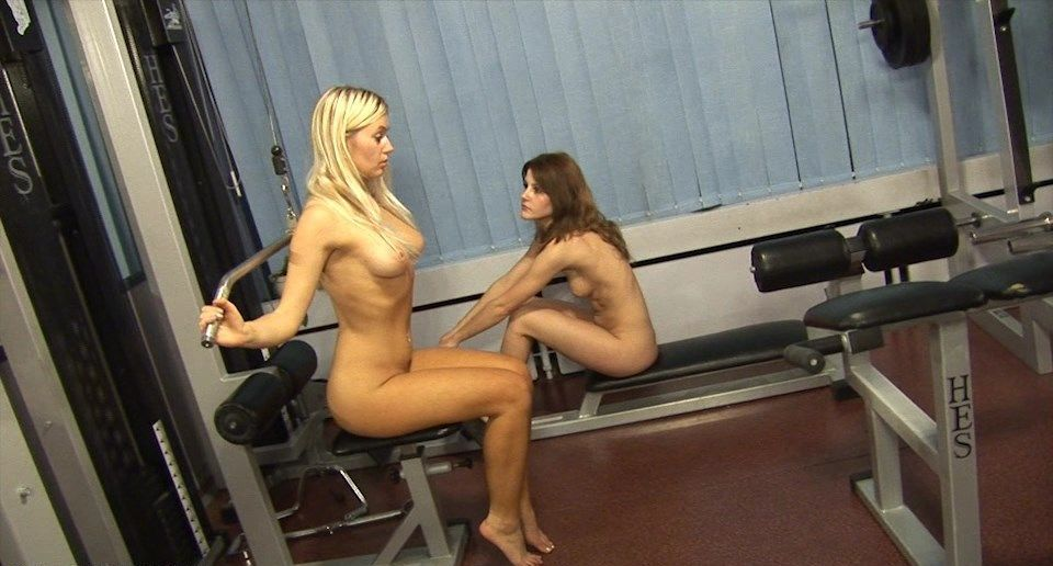 Young girls naturists in the gym - purenudism video