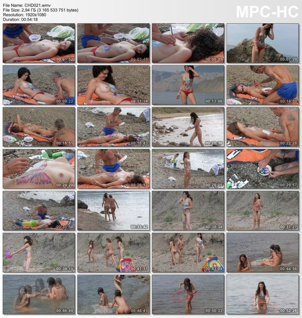 Fun games of young nudist girls