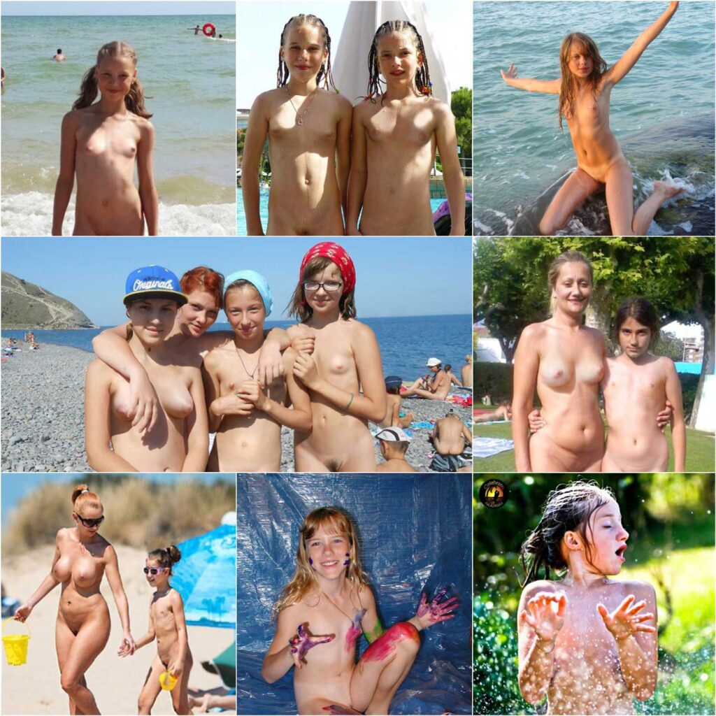 young and adult nudists